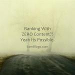 Ranking With ZERO Content